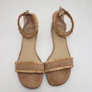 Ann Taylor Open Toe Zip Sandals Sz 8.5M